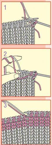 Вязание для малышей пуловера с сердечком, мастер класс 1.