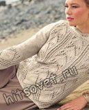 Вязание спицами ажурного пуловера, фото.