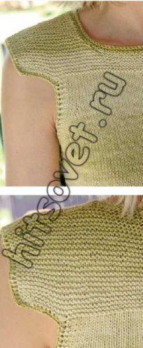 Вязание спицами топа, фото 2.