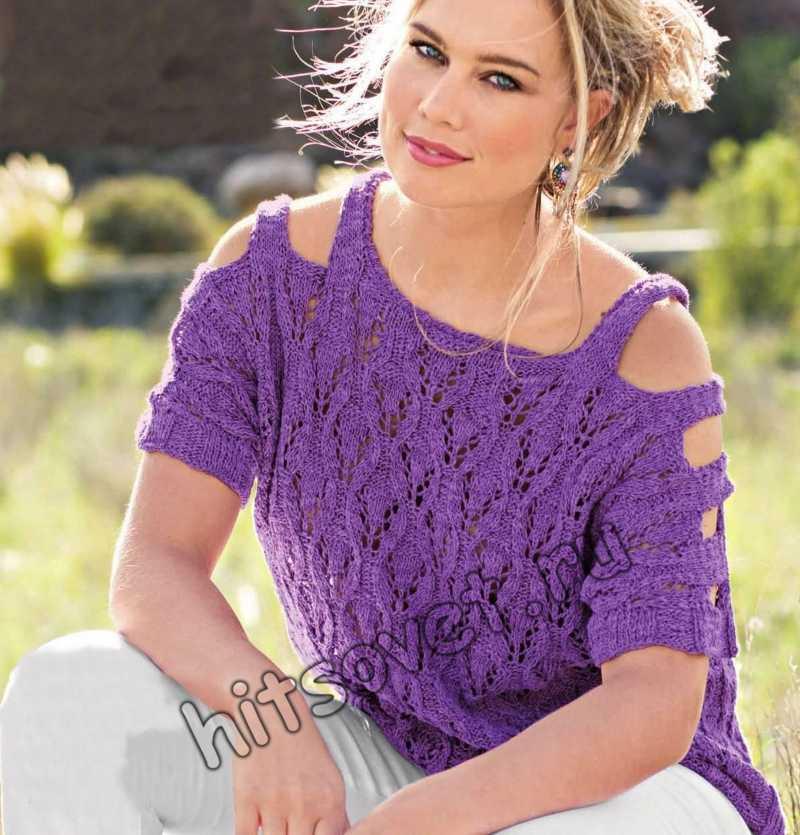 Вязание спицами топа для женщин, фото.