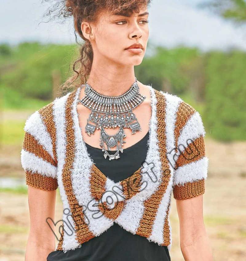 Вязаное болеро для женщин, фото.