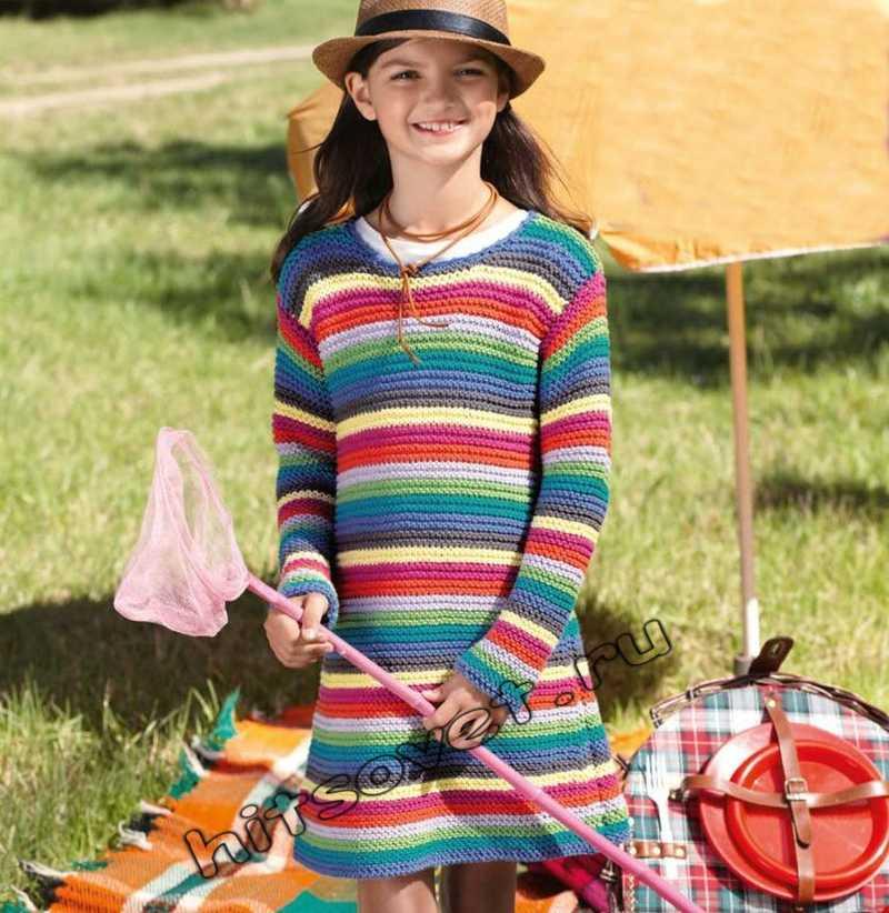 Платье для девочки спицами, фото.