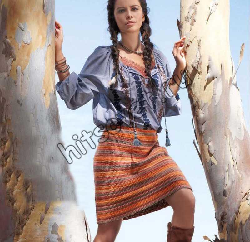 Вязание крючком юбка, фото.