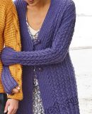Вязание спицами модного кардигана, фото.