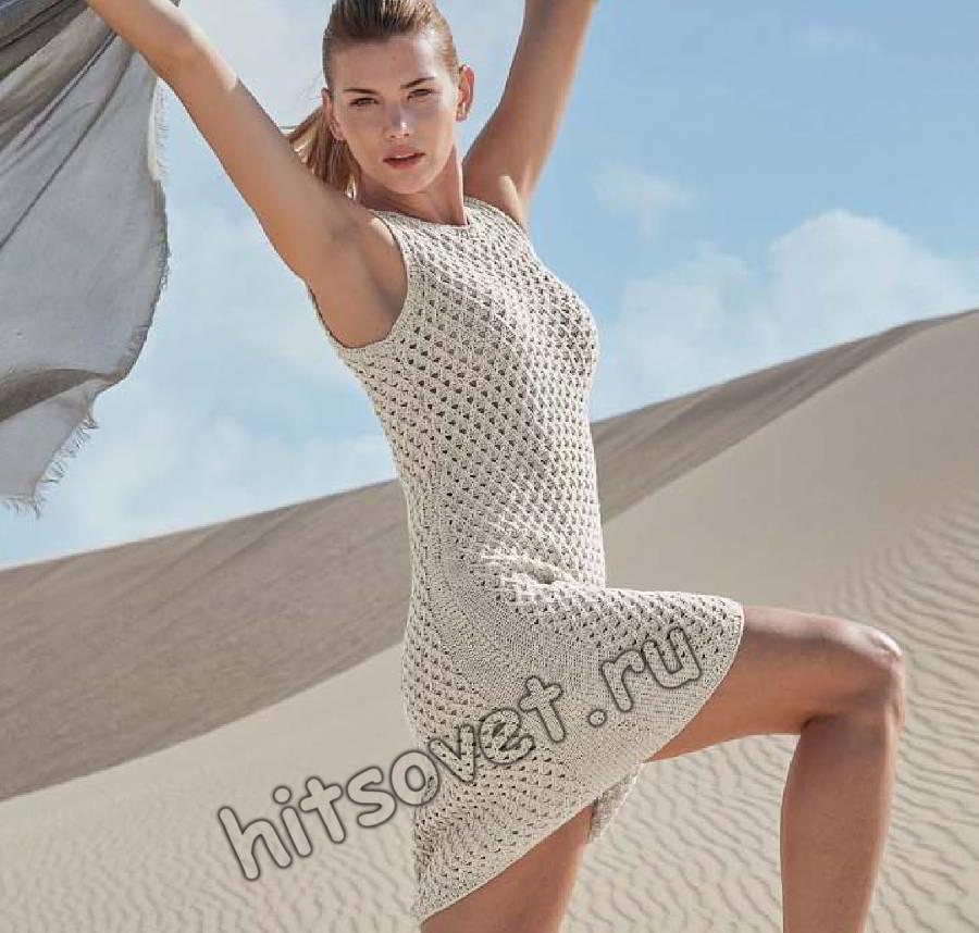 Летнее платье из хлопка, фото.