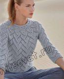 Пуловер одним полотном, фото.