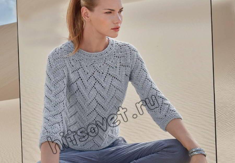 Пуловер одним полотном