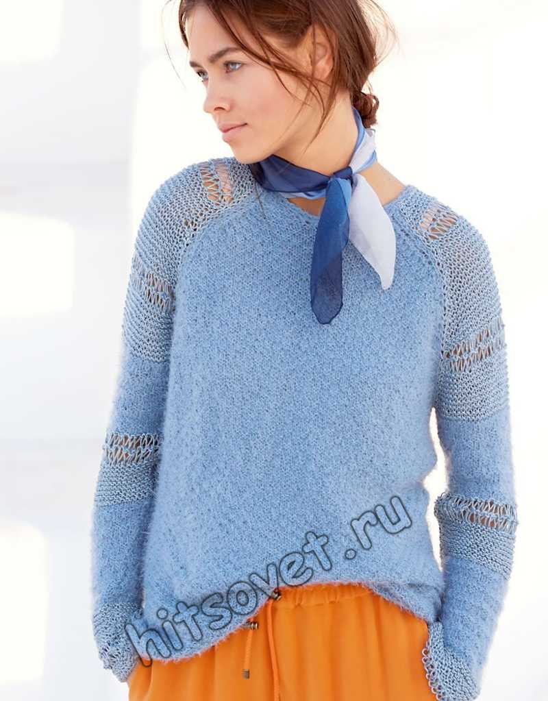 Пуловер с рукавами реглан, фото.