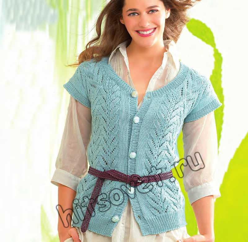 Вязание спицами жилета, фото.