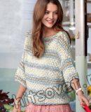 Летний пуловер из хлопка, фото.