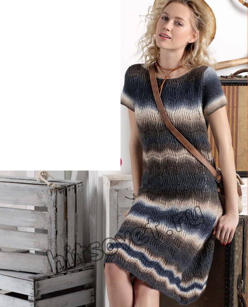 Платье вязаное, фото.