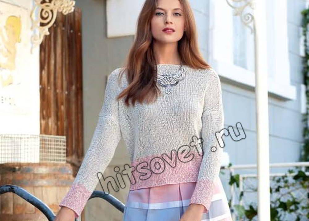 Пуловер для начинающих, фото.