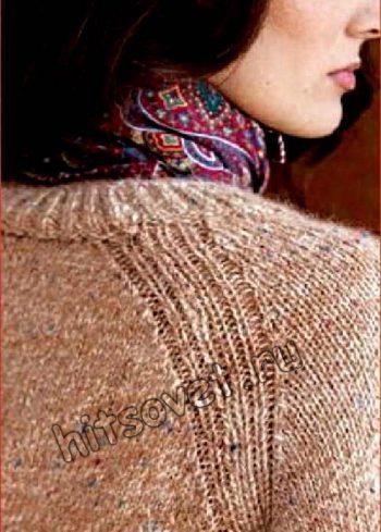 Пуловер реглан спицами описание, фото 2.