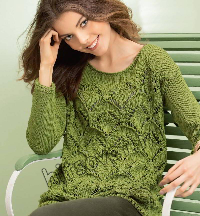 Узоры вязания свитера женского 543
