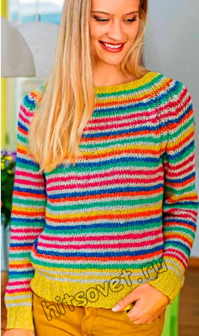 Вязание в технике нукинг пуловера, фото.