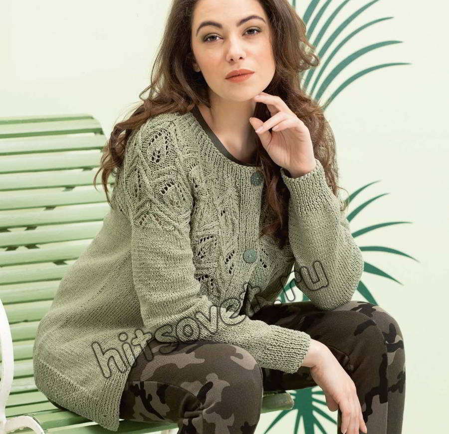 Жакет с ажурной кокеткой, фото.
