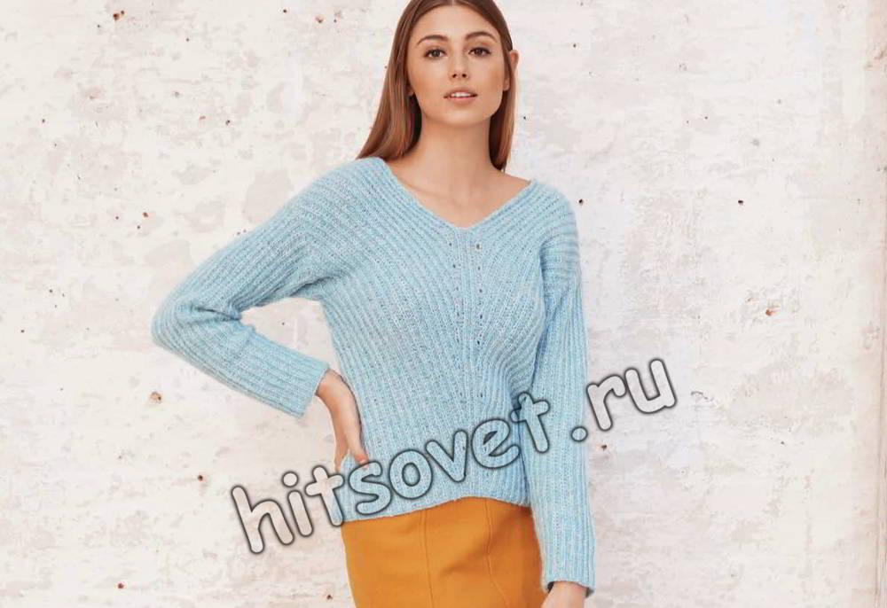 Модные вязаные пуловеры 2017