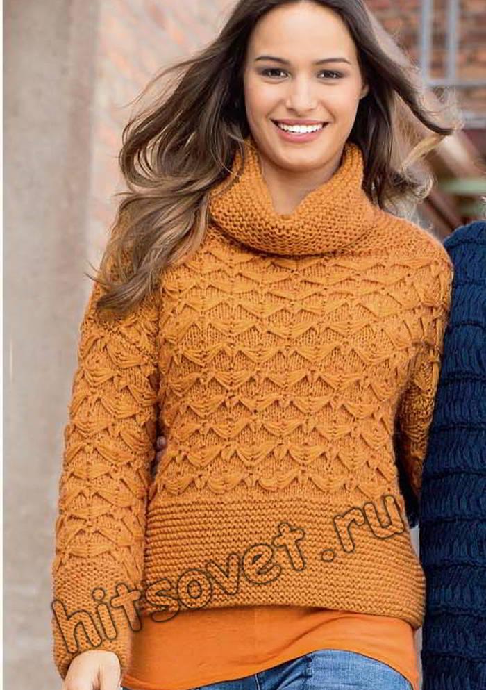 Модный женский свитер, фото.