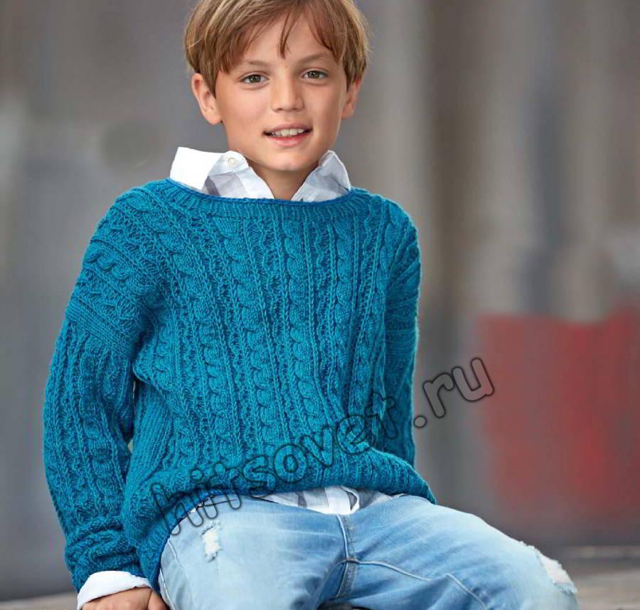 Пуловер для мальчика, фото.