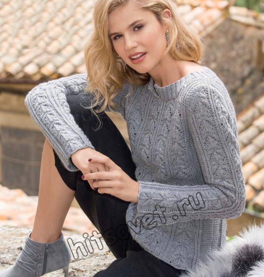 Пуловер из кашемира, фото.