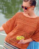 Пуловер с широкими рукавами, фото.