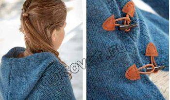 Удлиненный жакет для девочки, фото 2.