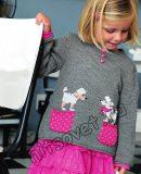 Вязаный пуловер для девочки, фото.