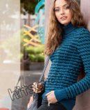 Модный свитер для девушки, фото.