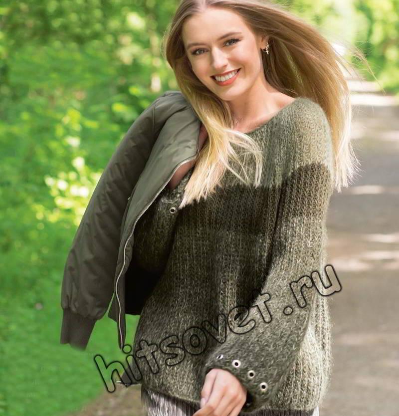 Пуловер регланом, фото.