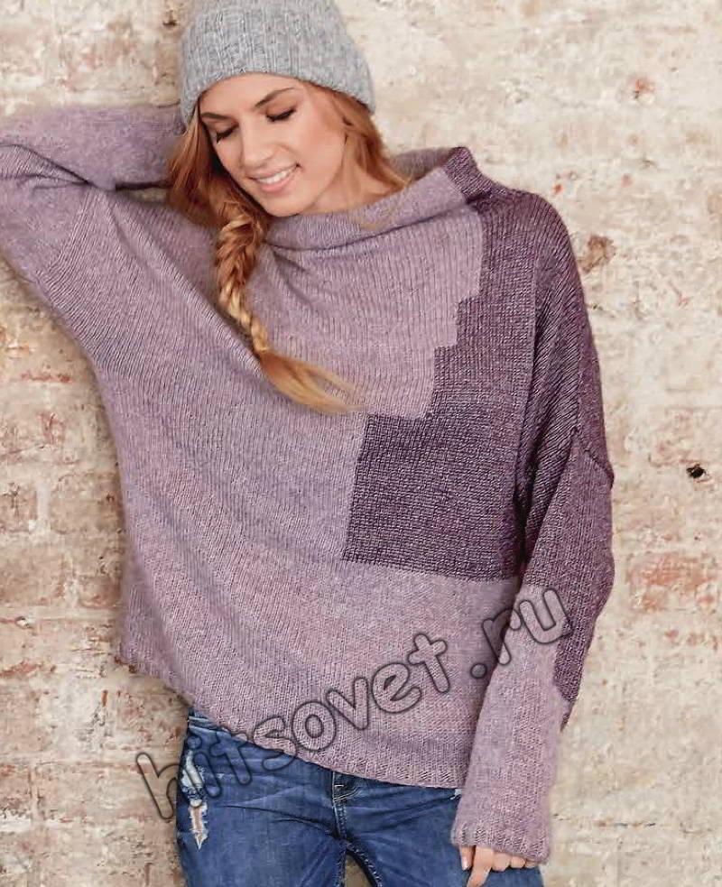 Пуловер с интарсией, фото 2.