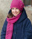 Шапка и шарф для девочки, фото.