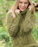 Вязание спицами модного свитера, фото.