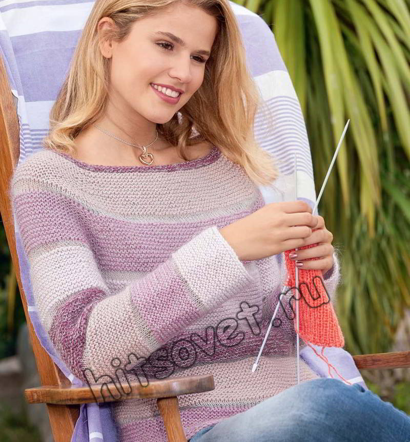 Женский пуловер реглан, фото.