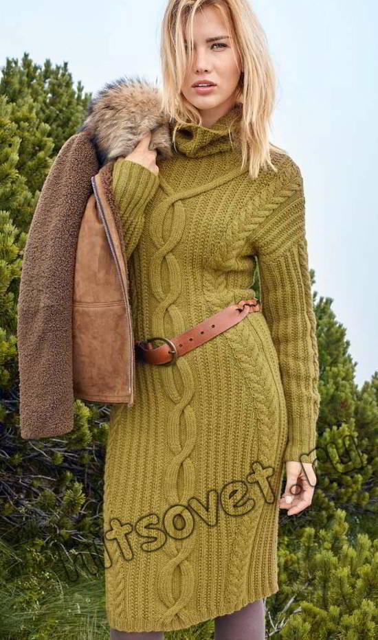 Красивое платье вязаное