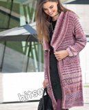 Модное вязаное пальто, фото.