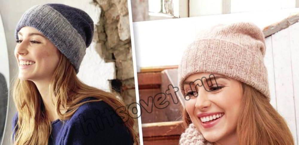 Модные вязаные шапки, фото.