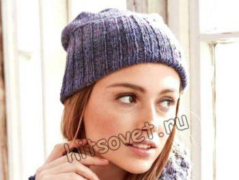 Модные вязаные шапки, фото 2.