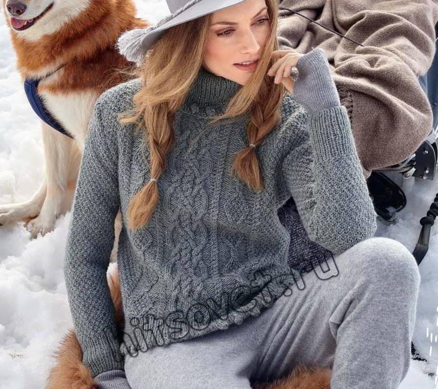 Пуловер с шишечками, фото.