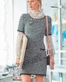 Короткое вязаное платье, фото.