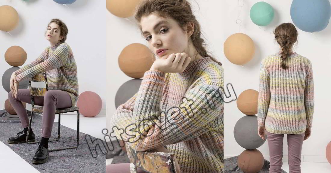 Меланжевый свитер