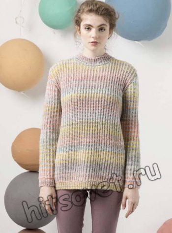 Меланжевый свитер, фото 2.
