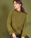 Меланжевый женский свитер, фото 1.