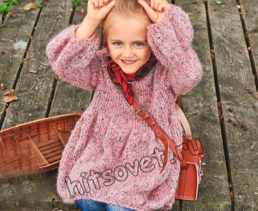Платье вязаное для девочки, фото.