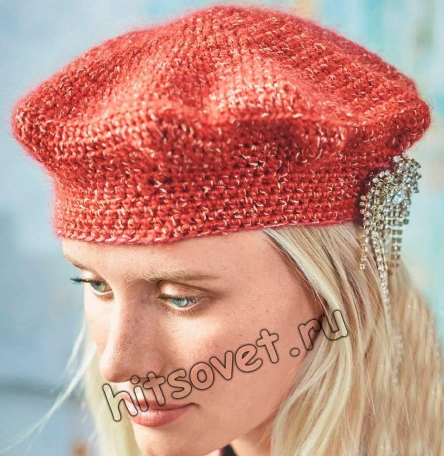 Вязание крючком берета, фото.