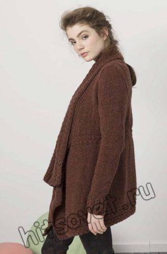 Жакет женский с косами, фото 2.