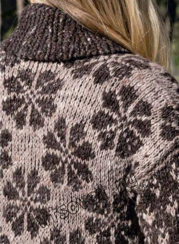 Вязаное пальто 2018, фото 2.