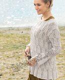 Пуловер ажурными косами, фото.