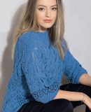 Пуловер с разрезами на рукавах, фото.