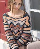 Пуловер узором зигзаг, фото.