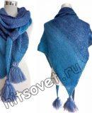 Вязание платка для начинающих, фото.